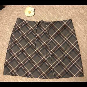 American Eagle Wool Plaid Mini Skirt